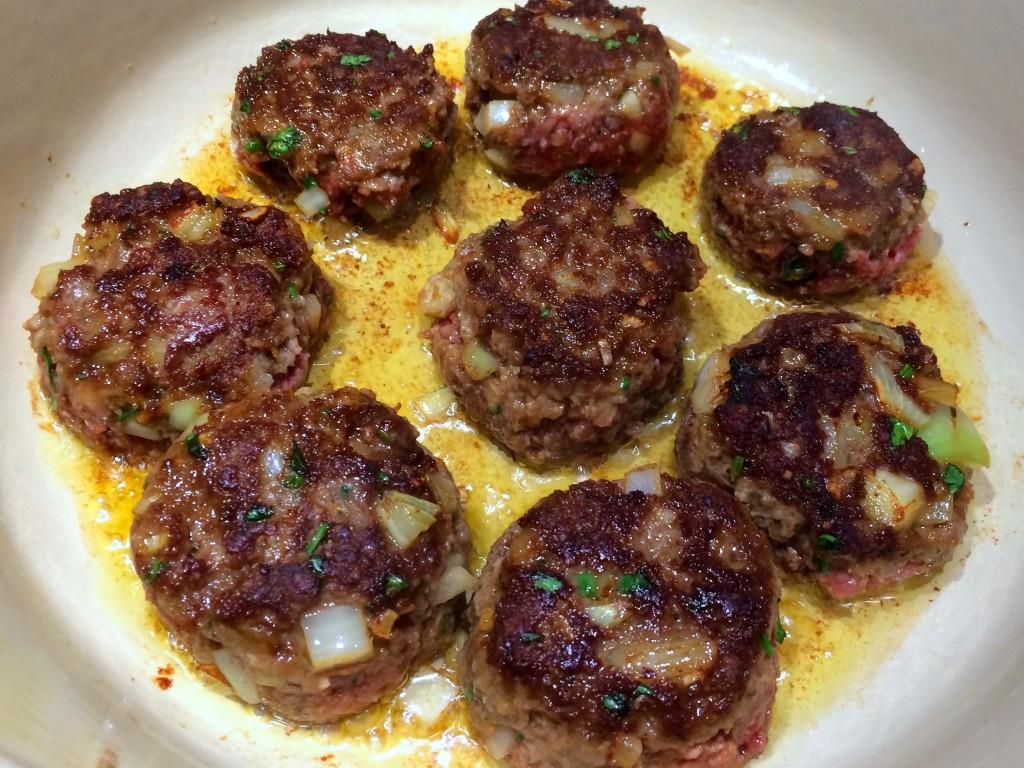 Burgers in pan 2
