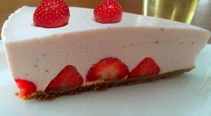 Aardbei cheesecake met mascarpone