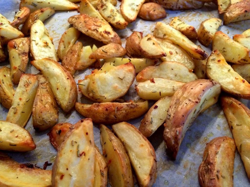 aardappels op bakplaat geroosterd
