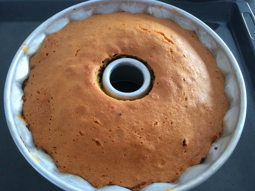 afgebakken cake