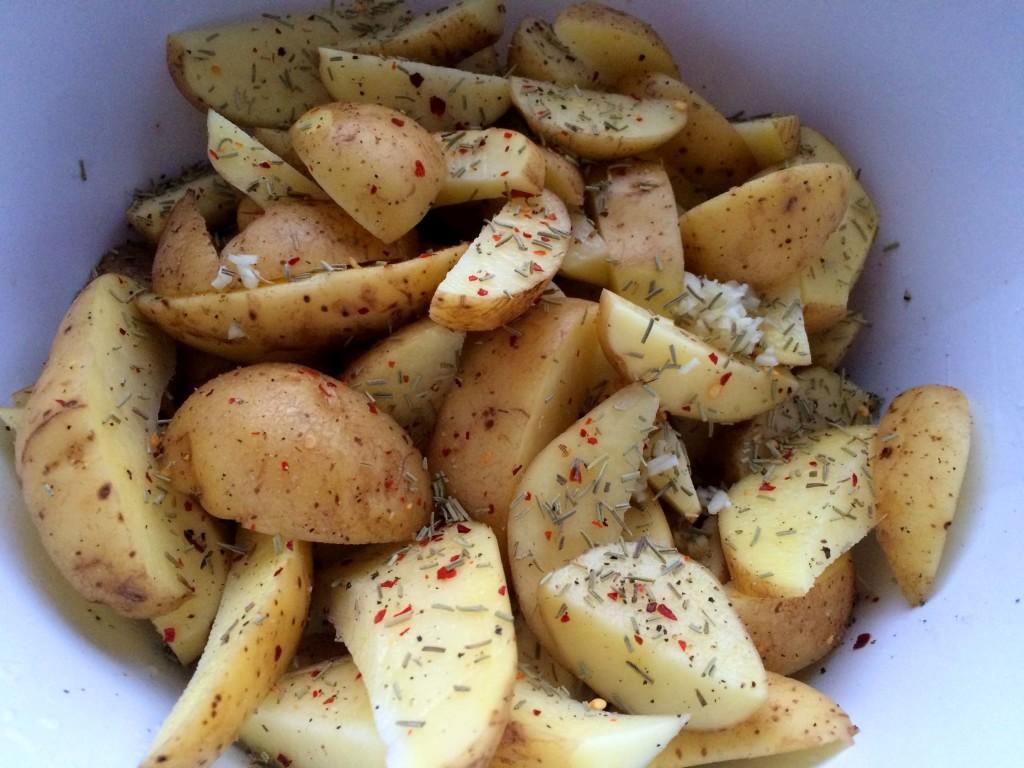 gekruide aardappels