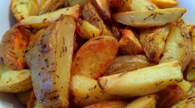 Geroosterde aardappeltjes met knoflook en rozemarijn