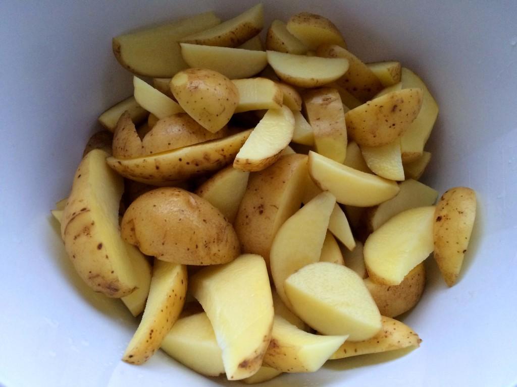 gesneden aardappels