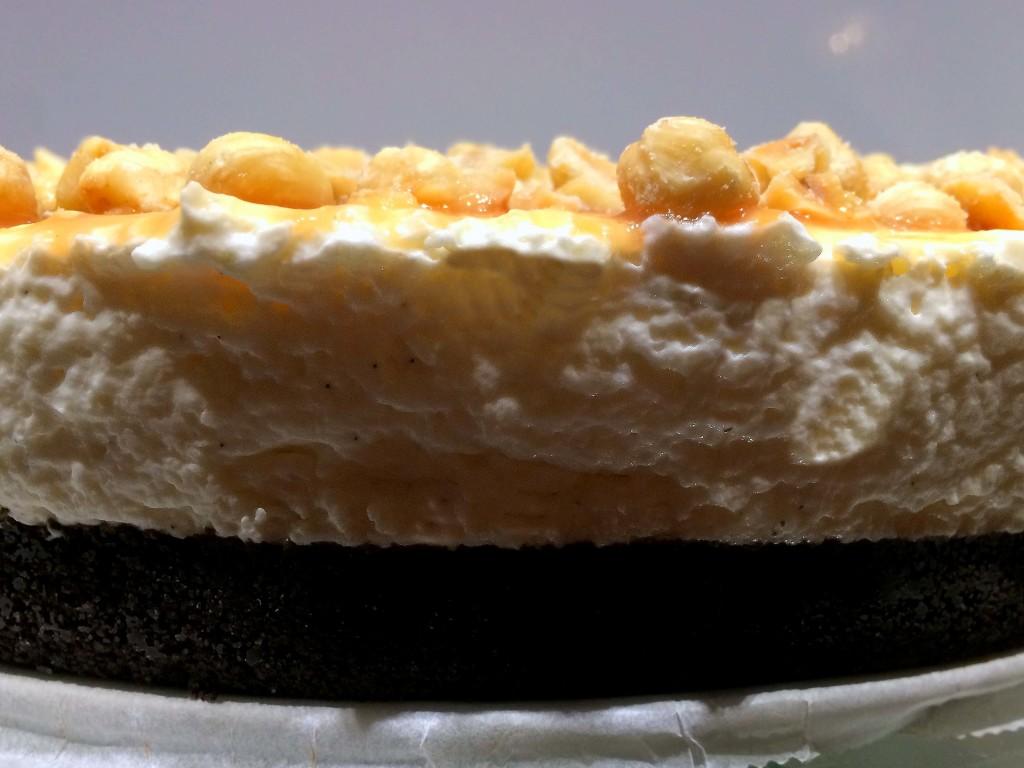 Hazelnoot karamel cheesecake