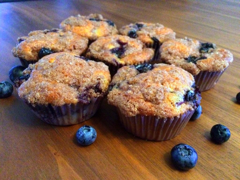 blue berry yoghurt muffin