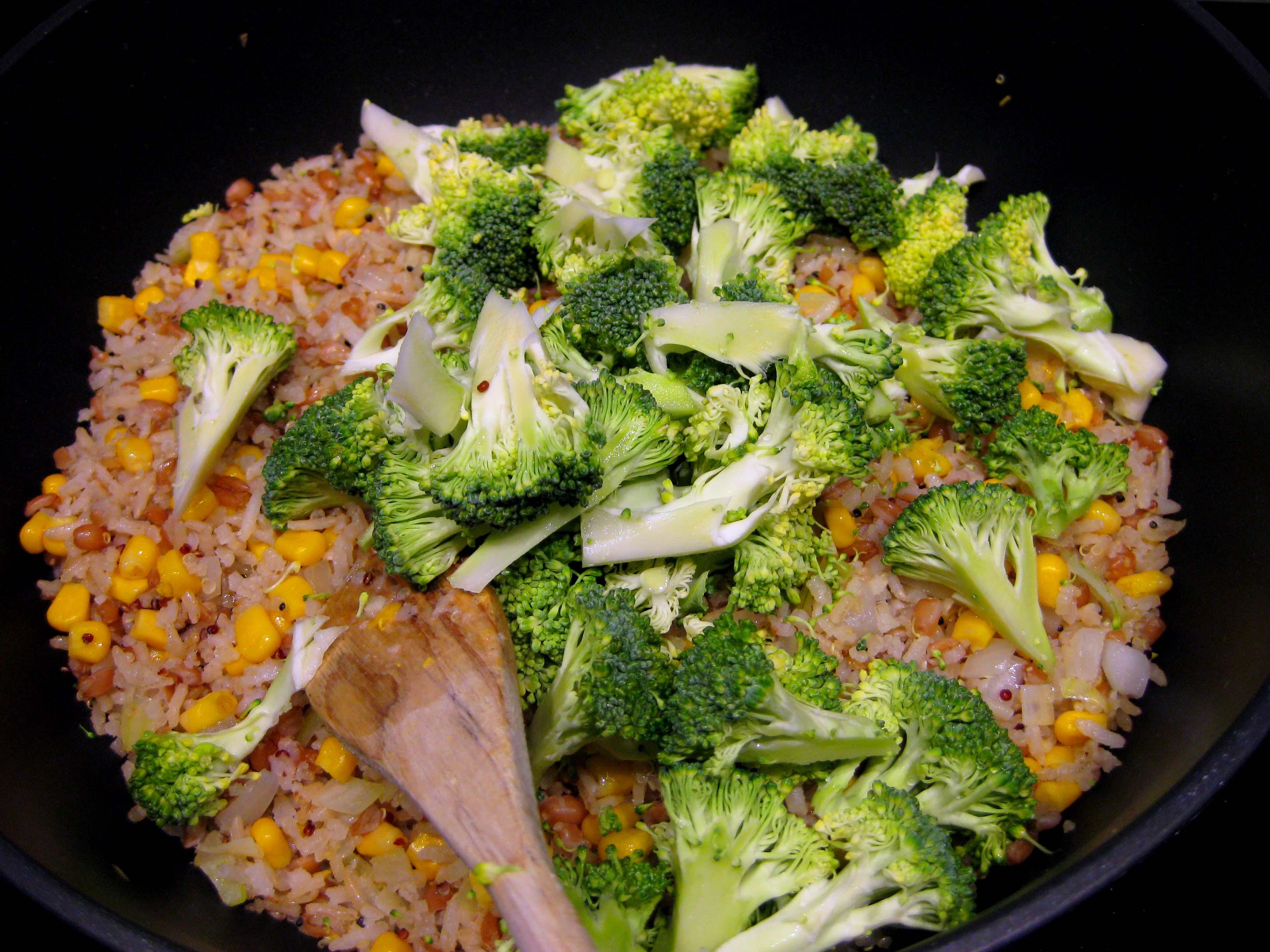 brocoli bij rijst