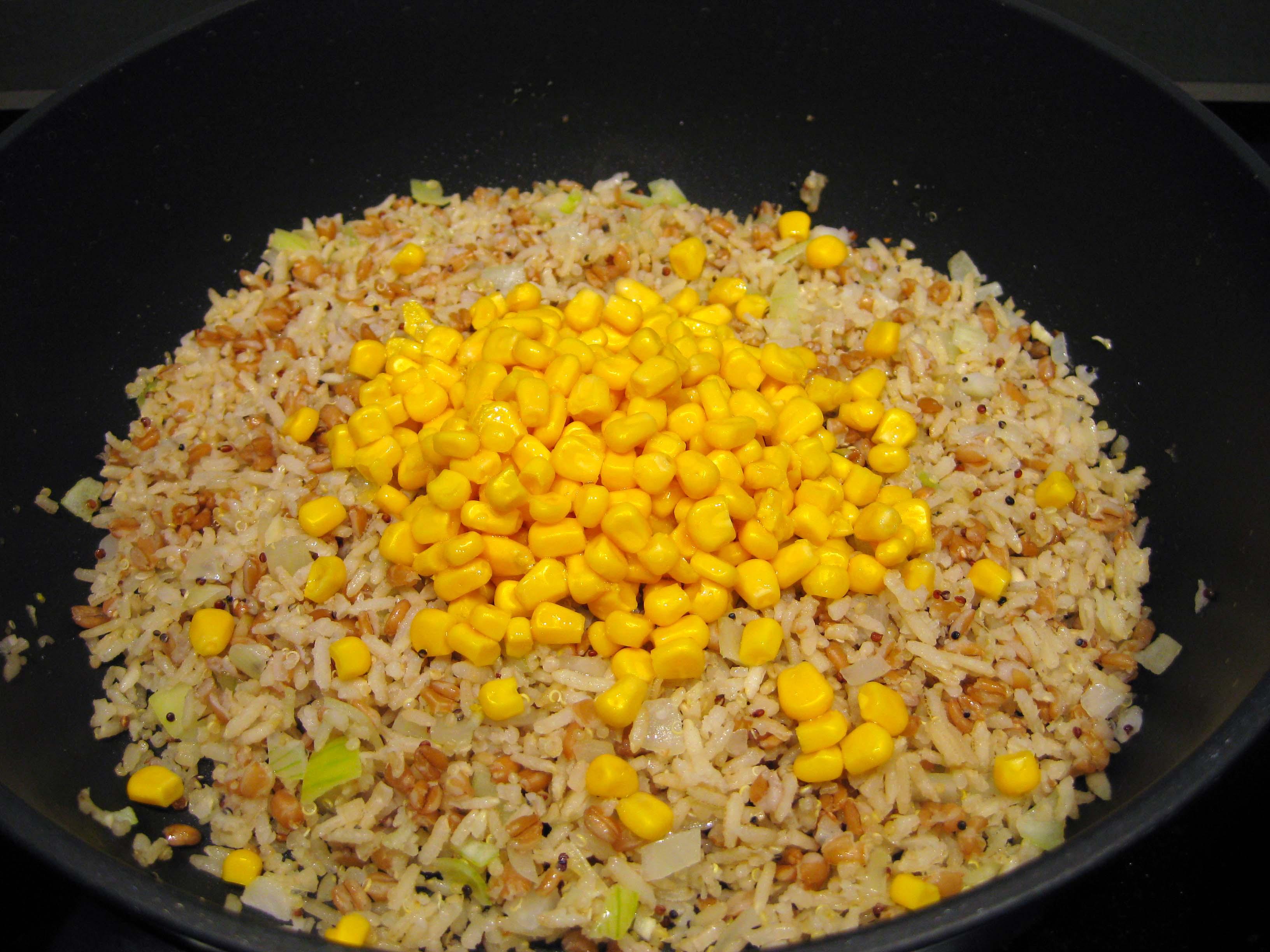 rijst met mais