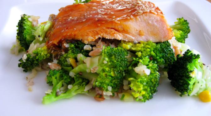 Zalm met broccoli