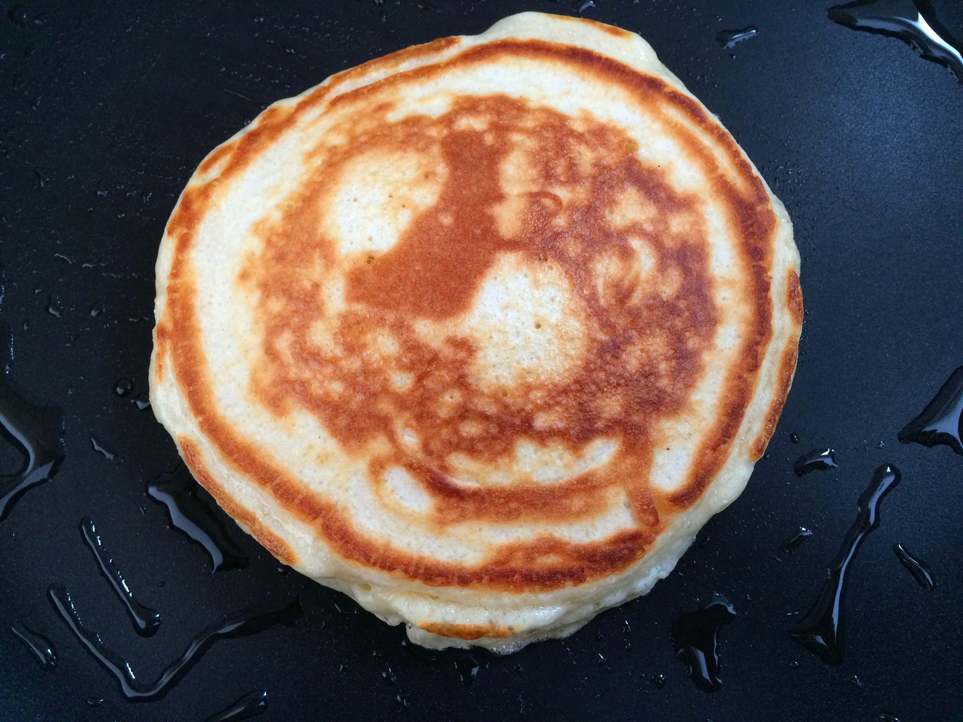pancake omgedraaid