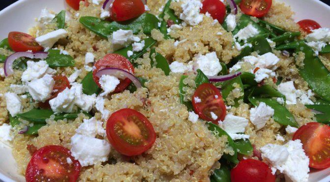 Quinoa salade met peultjes